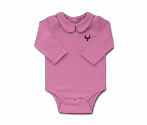 Girls Lilac Toddler Long Sleeve Heru Collar Onesie