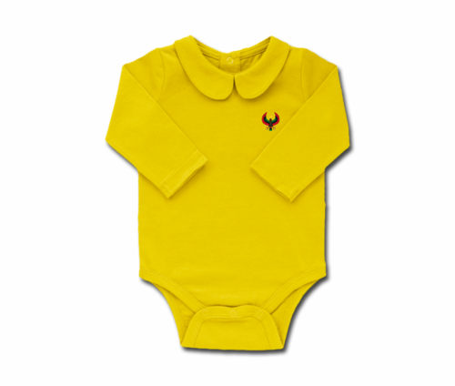 Girls Sunshine Toddler Long Sleeve Heru Collar Onesie