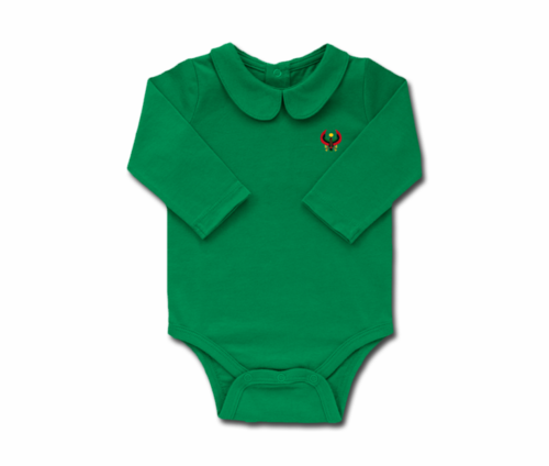Girls Grass Toddler Long Sleeve Heru Collar Onesie