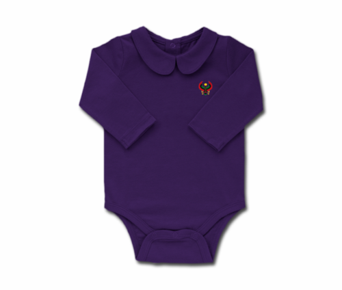 Girls Grape Toddler Long Sleeve Heru Collar Onesie