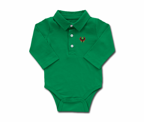 Toddler Grass Long Sleeve Heru Collar Onesie