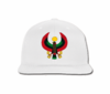 Men's Heru White Flat Brim Baseball Hat