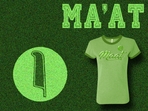 Women's Heather Green and Green Ma'at Ringer T-Shirts with Foil