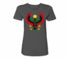 Women's Charcoal Grey Heru Regular Fit T-Shirt