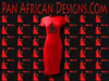 Women's Red with Black Glitter Maat T-Shirt Dress