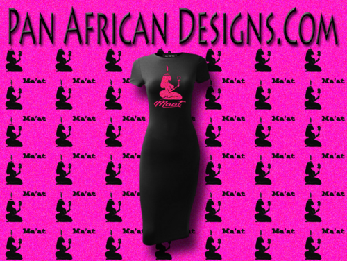 Women's Black with Hot Pink Glitter Maat T-Shirt Dress