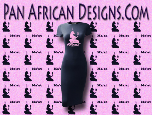 Women's Navy and Pink Maat T-Shirt Dress
