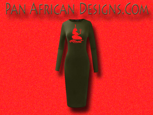 f91a8e7741a Women s Olive and Red Glitter Long Sleeve Ma at Bodycon T-Shirt Dress