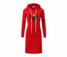 Women's White String Heru Hoodie Dress