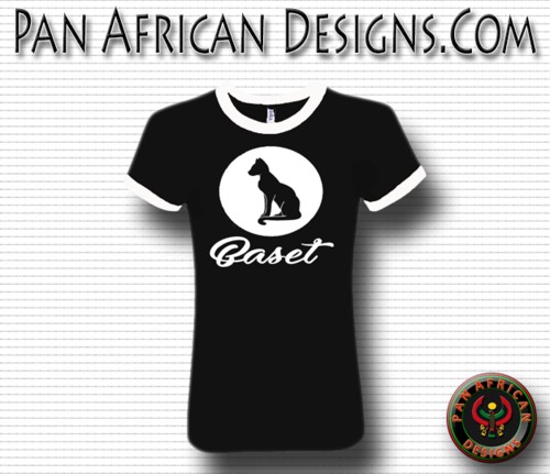 Women's Black and White Baset T-Shirt with White Glitter Circle Design