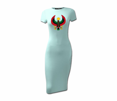 Women's Azari Heru Short Sleeve Bodycon Dress