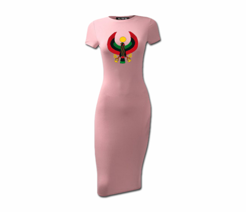 Women's Dusty Pink Heru Short Sleeve Bodycon Dress