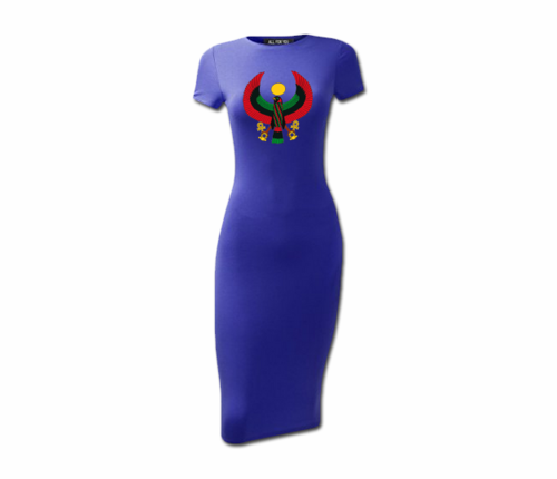Women's Royal Blue Heru Short Sleeve Bodycon Dress