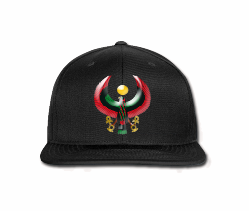 Men's Black Heru Snap Back (Flexstyle Logo)
