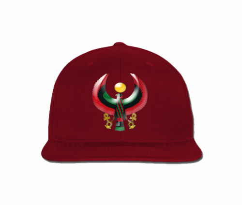 Men's Maroon Heru Snap Back (Flexstyle Logo)