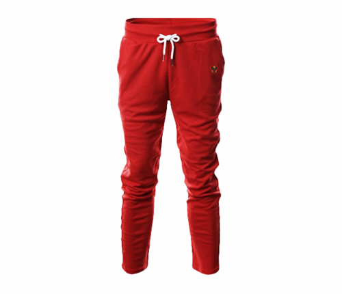 Men's Red Heru Slim Fit Lightweight Sweatpant  (with Draw String)
