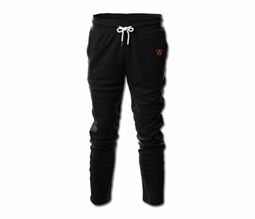 Men's Black Heru Slim Fit Lightweight Sweatpant  (with Draw String)