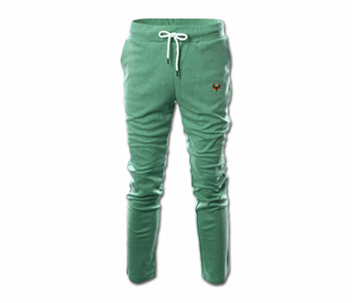 Men's Jade Green Heru Slim Fit Lightweight Sweatpant  (with Draw String)