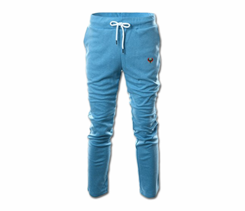 Men's Sky Blue Heru Slim Fit Lightweight Sweatpant  (with Draw String)