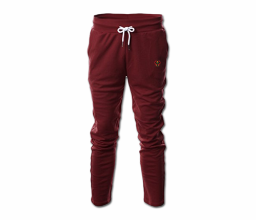 Men's Maroon Heru Slim Fit Lightweight Sweatpant  (with Draw String)