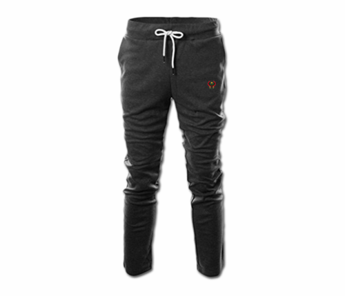 Men's Charcoal Grey Heru Slim Fit Lightweight Sweatpant (with Draw String)