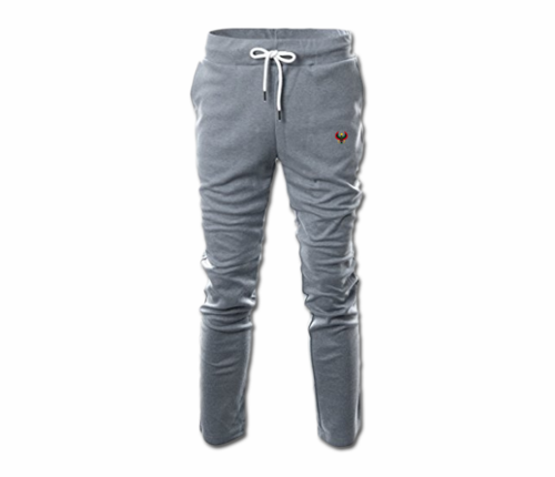 Mens Heather Grey Heru Slim Fit Lightweight Sweatpant  (with Draw String)