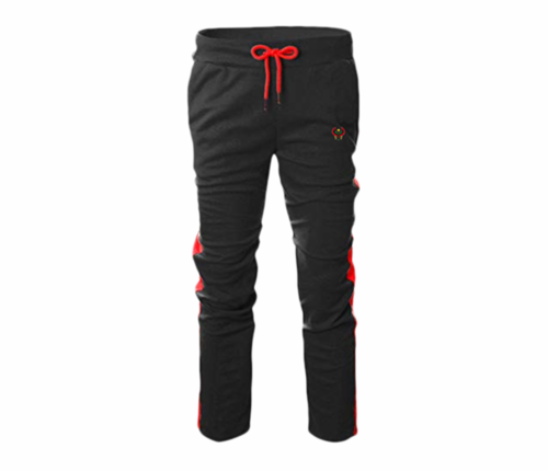 Men's Black and Red Heru Slim Fit Lightweight Sweatpant (Draw String)