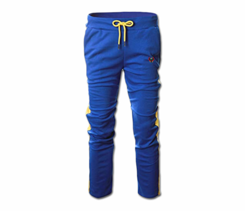 Men's Royal Blue and Gold Heru Slim Fit Lightweight Sweatpant (Draw String)