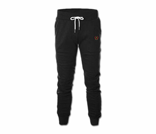 Men's Black Heru Slim Fit Lightweight Sweatpant with Tapper Bottom