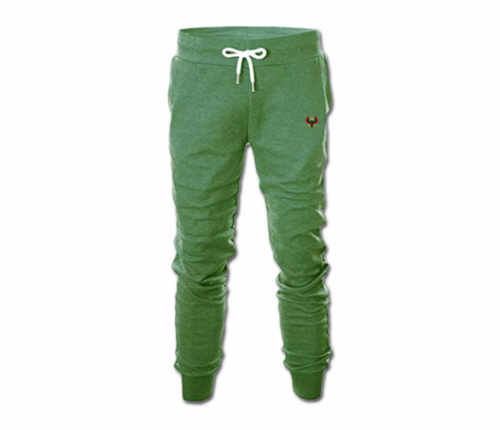 Men's Jade Green Heru Slim Fit Lightweight Sweatpant with Tapper Bottom
