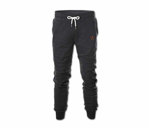 Men's Charcoal Grey Heru Slim Fit Sweatpant with Tapper Bottom (Draw String)
