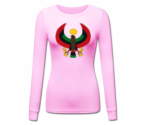 Women's Pink Heru Longer Sleeve T-Shirt