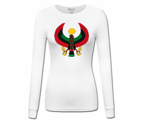 Women's White Heru Longer Sleeve T-Shirt