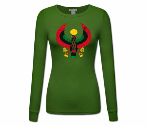 Women's Forest Green Heru Longer Sleeve T-Shirt