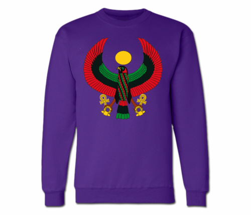 Women's Purple Heru Crewneck Sweatshirt