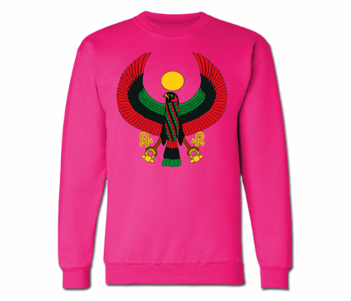 Women's Hot Pink Heru Crewneck Sweatshirt