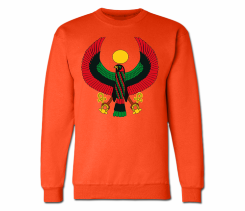 Women's Orange Heru Crewneck Sweatshirt
