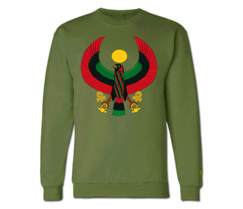 Women's Military Green Heru Crewneck Sweatshirt