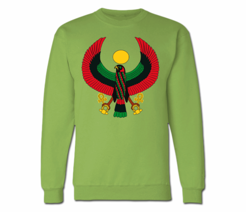 Women's Kiwi Green Heru Crewneck Sweatshirt