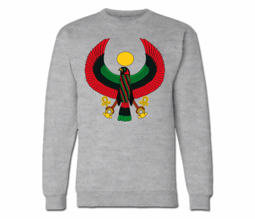 Women's Heather Grey Heru Crewneck Sweatshirt