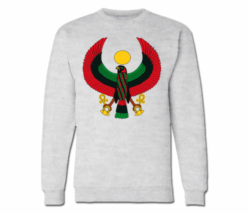 Women's Ash Grey Heru Crewneck Sweatshirt
