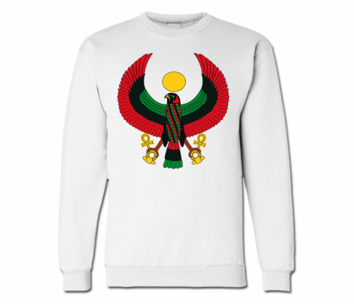 Women's White Heru Crewneck Sweatshirt
