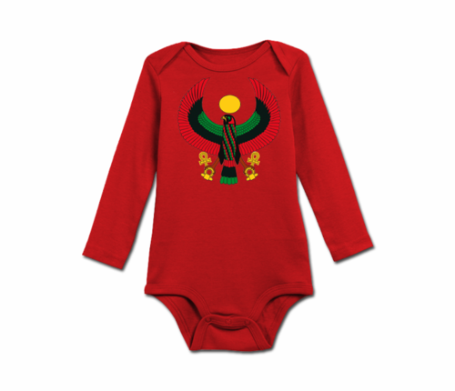 Infant Red Heru Long Sleeve Onesie
