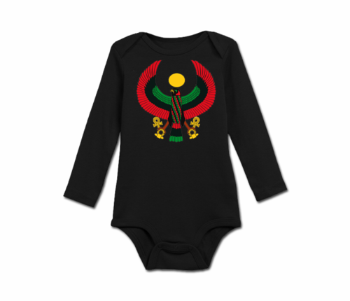 Infant Black Heru Long Sleeve Onesie
