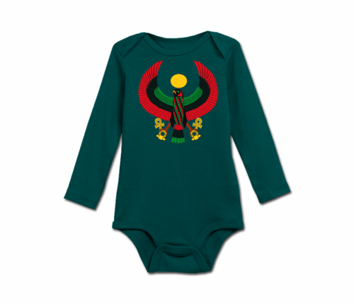 Infant Spuce Green Heru Long Sleeve Onesie