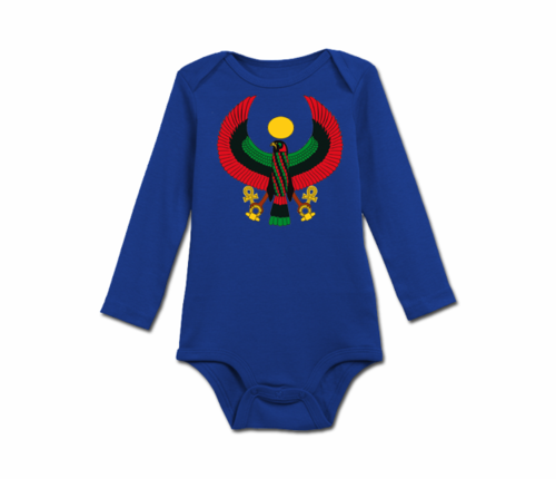 Infant Colbalt Blue Heru Long Sleeve Onesie