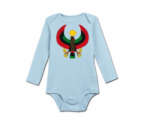 Infant Baby Blue Heru Long Sleeve Onesie