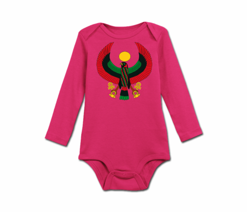 Infant Rasberry Heru Long Sleeve Onesie