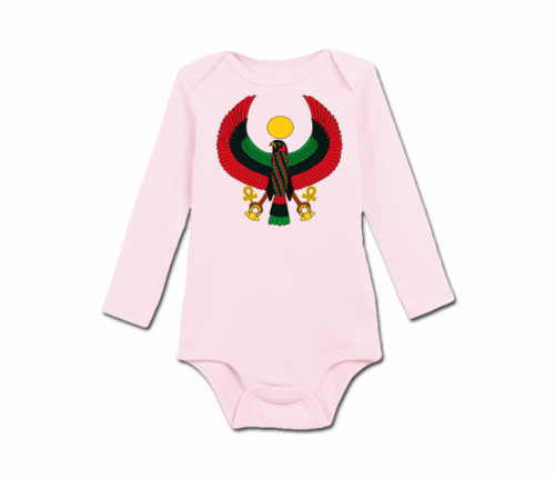 Infant Pink Heru Long Sleeve Onesie