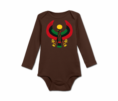 Infant Chocolate Heru Long Sleeve Onesie